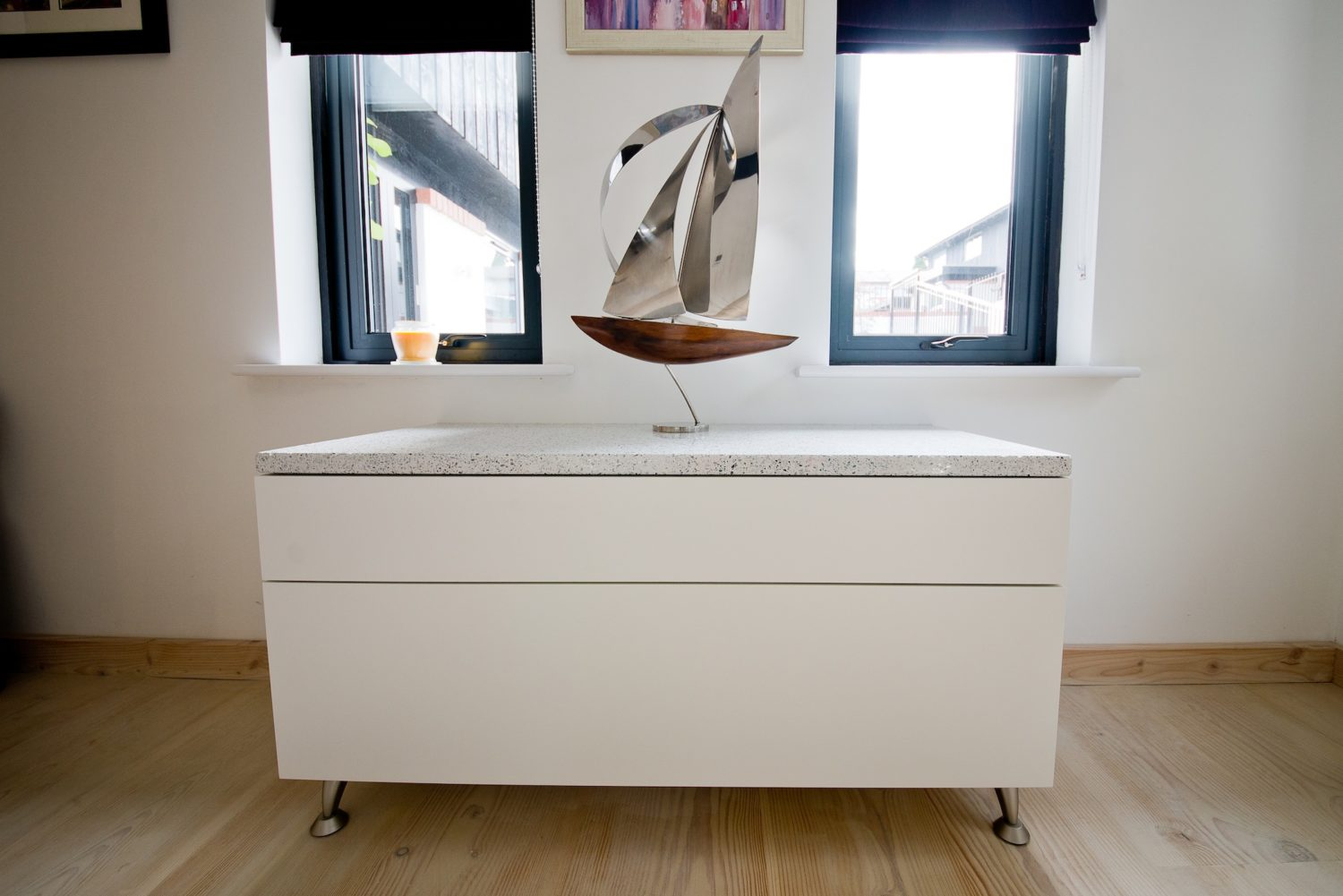 hall unit with silestone tops